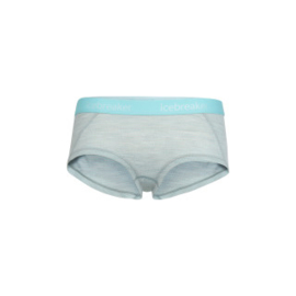 Icebreaker Wmns Sprite Hot pants / Blizzard HTHR/AQUA SPLASH/Stripe -M-XL