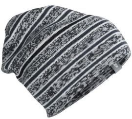 Icebreaker Muts Atom Hat Black/Snow/Stealth - One size