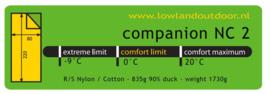 LOWLAND OUTDOOR® - Companion NC 2 - 220 x 80 cm - 1730 gr - 0°C - Nylon/Katoen