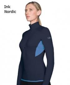 Icebreaker Wmns GT220 Quantum Zip Ink/Nordic - XSmall