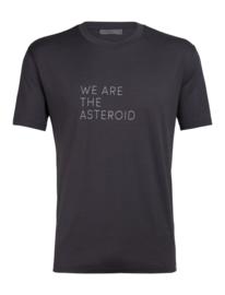 Icebreaker Mens Nature Dye Tech lite SS crewe We Are the Astroid / Tannin - Medium
