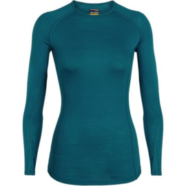 Icebreaker Wmns 150 Zone LS Crewe / Kingfisher/ARCTIC TEAL -Large