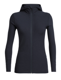 Icebreaker Wmns Descender LS Zip Hood / Midnight Navy - Small