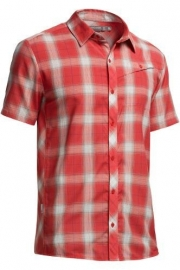Icebreaker Mens Departure SS Shirt Plaid Clay -S-M