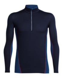 Icebreaker Mens Factor LS HZ - Midnight Navy/Largo/Rocket -Medium