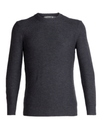 Icebreaker Mens Waypoint Crew Sweater / Char Hthr - Medium