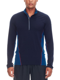 Icebreaker Mens Factor LS HZ - Midnight Navy/Largo/Rocket - Medium