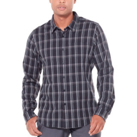 Icebreaker Mens Compass Flannel LS Shirt / Black/Monsoon/Plaid - M-L