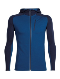Icebreaker Mens Quantum LS Z Hood Largo/Midnight Navy -L-XL