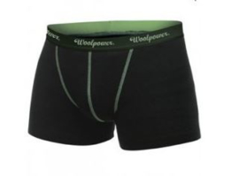 WOOLPOWER LITE Boxer Briefs (groene stiksels)- heren - Small