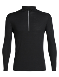 Icebreaker Mens Amplify LS Half Zip / Black -Medium