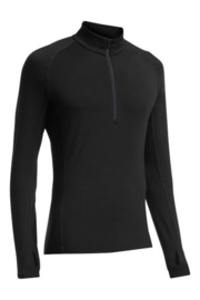 Icebreaker 	Mens Zone LS Half Zip  Black/Monsoon/Monsoon