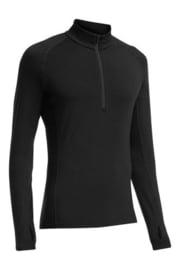 Icebreaker 	Mens Zone LS Half Zip  Black/Monsoon/Monsoon -XLarge