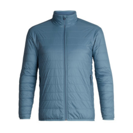 Icebreaker Mens Hyperia Lite Jacket /  GRANITE BLUE/PRUSSIAN BLUE -Medium