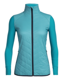 Icebreaker 	Wmns Descender  Hybrid Jacket / Arctic Teal/Midnight Navy - Small