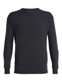 Icebreaker Mens Real Fleece LS Crewe / Deep Midnight - Large