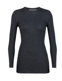 Icebreaker Wmn Valley Slim Crewe Sweater / Char - XLarge