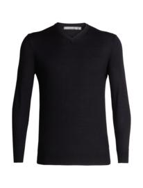 Icebreaker Shearer V Sweater / Black - Medium