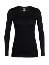 Icebreaker Wmns 200 Oasis LS Crewe / Black - Medium
