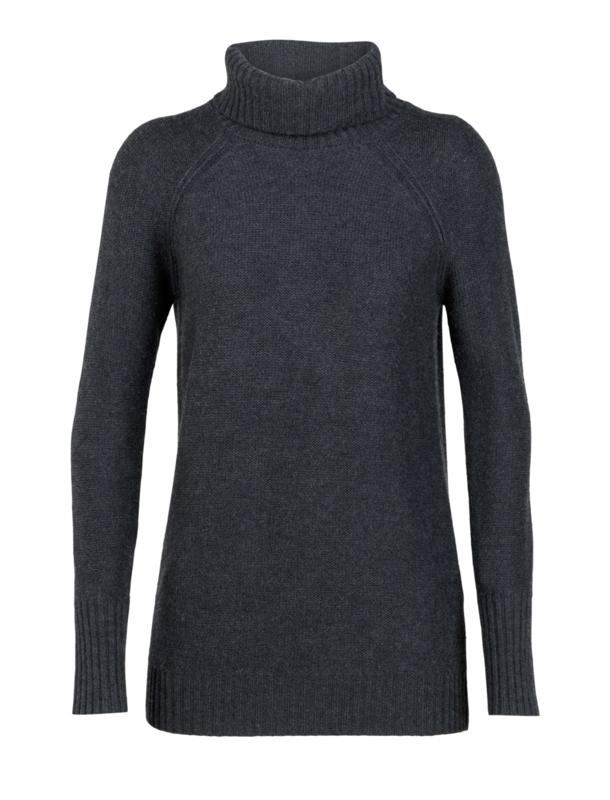 Icebreaker Wmns Waypoint Roll Neck Sweater / Char Hthr -XL