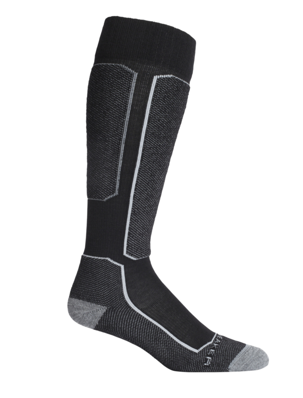 Icebreaker SKI+ LIGHT OVER THE CALF LIGHT CUSHION / Black -S- L