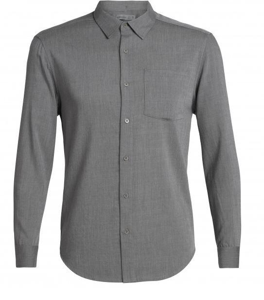 Icebreaker Mens Steveston LS Flannel Shirt/ Gritstone HTHR-Medium