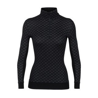 Icebreaker Wmns Affinity Thermo LS HZ - Black -XLarge