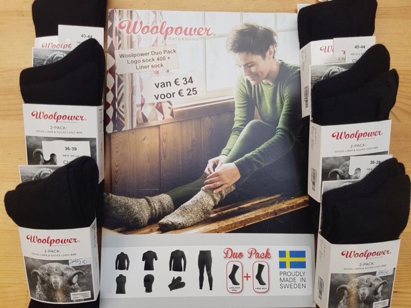 Woolpower Duo-voordeel-pak (sokken 400 en LITE) - Alle maten - Zwart en Zwart-Rood