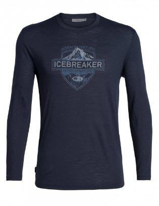 Icebreaker Mens Spector LS Crewe / Midnight Navy - Medium