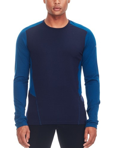 Icebreaker Mens Factor LS Midnight Navy/Largo -M-L-XL