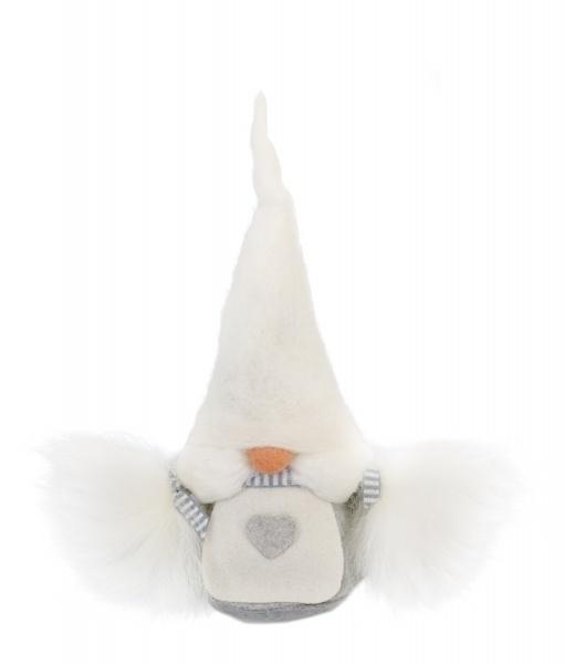 Aardvrouwtje (Tomte) Viktoria (20 cm) met witte muts