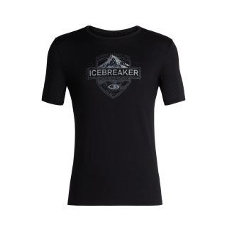 Icebreaker Mens Tech Lite SS Crewe Alpine Crest / Black -Medium