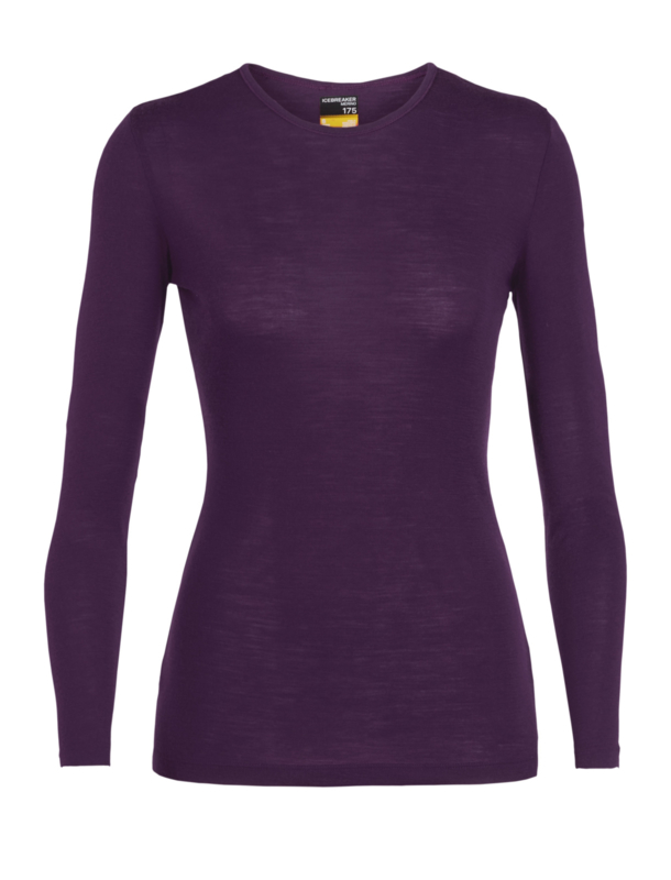 Icebreaker Wmns 175 Everyday LS Crewe / Panther -Large