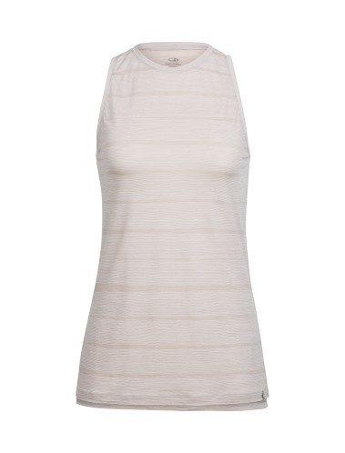 Icebreaker Wmns Aria Sleeveless Combed Lines / Pumice/Snow -Small