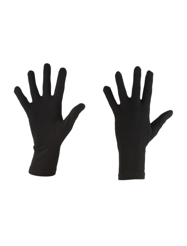 Icebreaker Adult 200 Oasis Glove Liners ( touch glove) /Black  - XS - S - M - L- XL