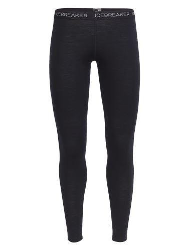 Icebreaker Wms BF200 Oasis Leggings Black -Large