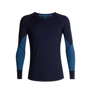 Icebreaker 	Mens 260 Zone LS Crewe Midnightnavy/Prussian Blue - M-L-XL