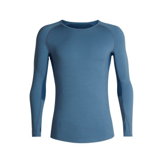 Icebreaker Mens 200 Zone LS Crewe Granite Blue/Prussian Blue - M-L-XL