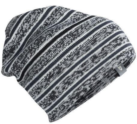 Icebreaker Muts Atom Hat Black/Snow/Stealth - One size