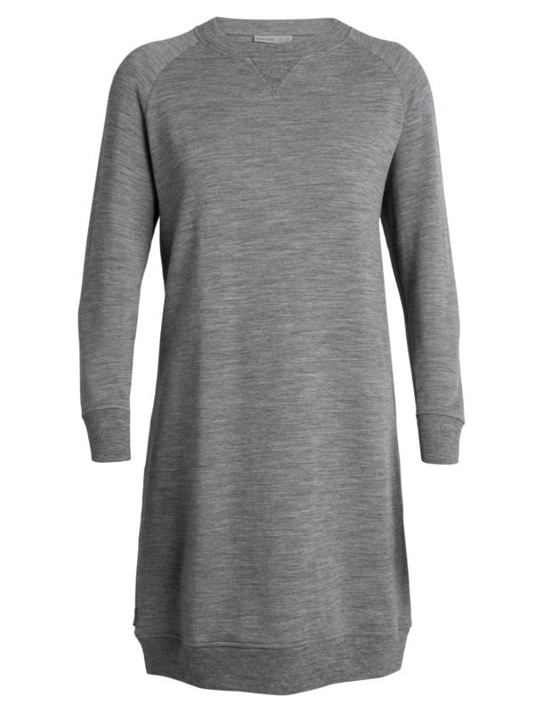 Icebreaker Womens Lydmar Dress / Gritstone Hthr - Small