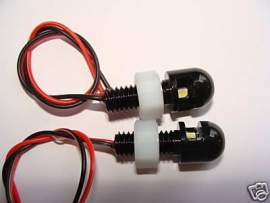 Kentekenverlichting zwart boutje met LED