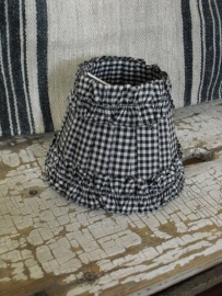 LAMPENKAPJE - HKLiving - ruitjesstof zwart -