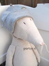 PJUT - BABY MUTSJE - PIRAAT/BOEF - grijs -