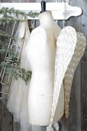 ANGEL WINGS - tule - 80 cm - Jeanne d 'Arc Living -  WORDT NIET VERZONDEN -
