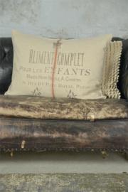 KUSSENHOES - ALIMENT COMPLET - (terra) -Jeanne d 'Arc Living - 50x70 cm  linnen
