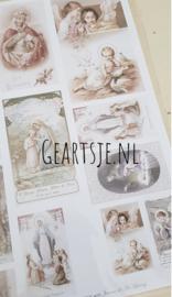SHEET -  Old Prayer Cards - Jeanne d 'Arc Living