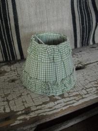 KLEMKAPJE - HKLiving - ruitjesstof groen -