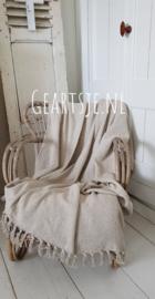 PLAID - creme - 125x150 cm - Jeanne d 'Arc Living