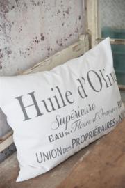 KUSSENHOES - HUILE d 'OLIVE - 50x70 cm - Jeanne d 'Arc Living -