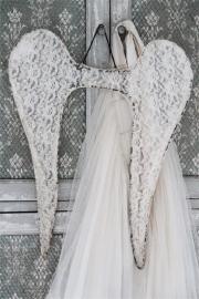 ANGEL WINGS - Lace - 60 cm - Jeanne d 'Arc Living - UITVERKOCHT